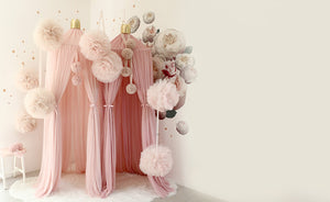Spinkie Large Sparkle Pom Garland | CHAMPAGNE - The Mum Life