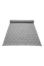 Diamond Woven Cotton Naco Rug | LIGHT GREY