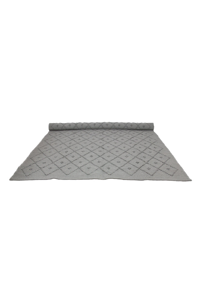 Diamond Woven Cotton Naco Rug | LIGHT GREY - The Mum Life