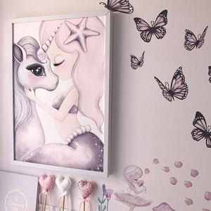 Cotton and Coral unicorn print