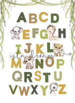 Jungle animal Alphabet poster | Isla Dream prints