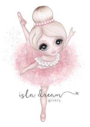 Ballerina wall print - the mum life