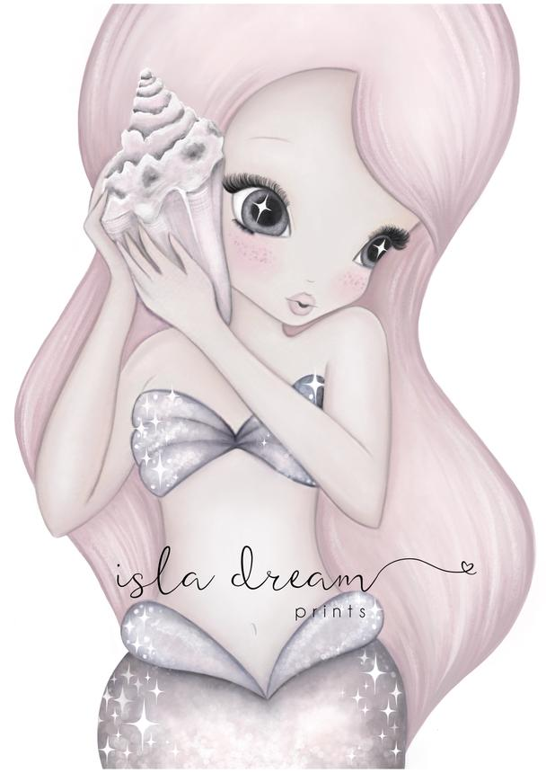 Coral the Mermaid Print - Isla Dream prints