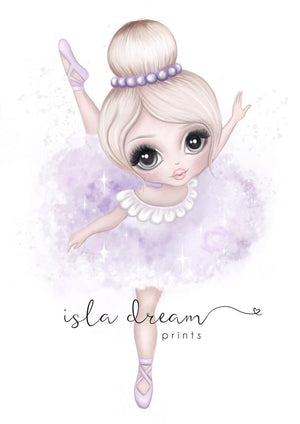 Bella The Ballerina Print in Pink or Lilac | Isla Dream Print