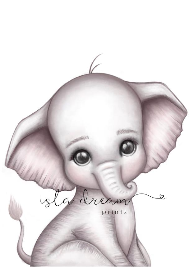 Theodore the Elephant print | Isla Dream prints