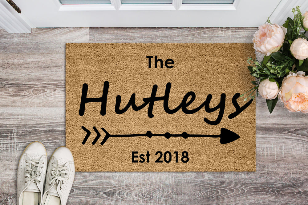 Surname Personalised Doormat - The Mum Life