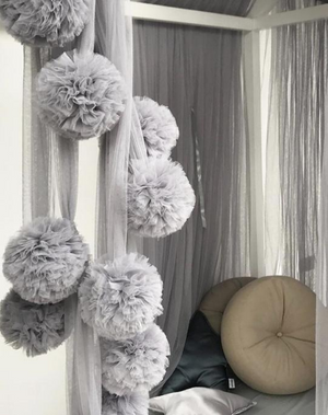 Spinkie Pom-Pom Garland | LIGHT GREY - The Mum Life