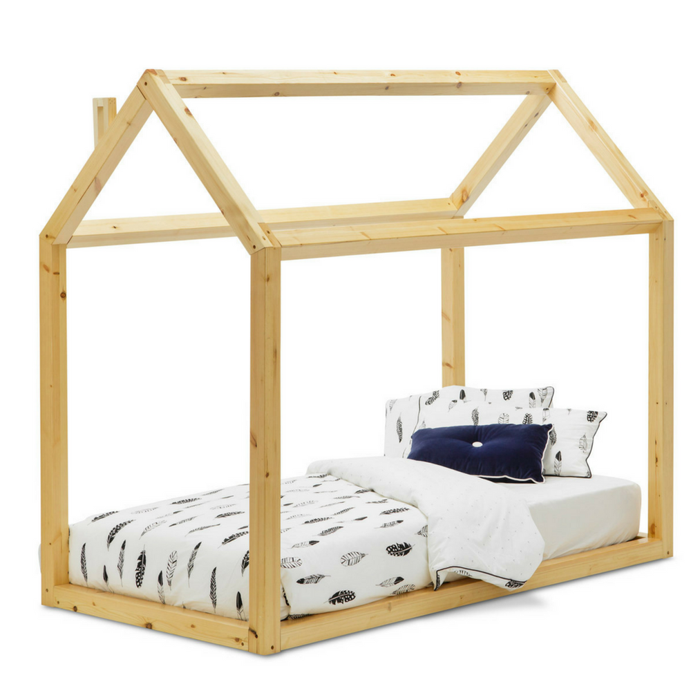 Wooden House Bed - The Mum Life
