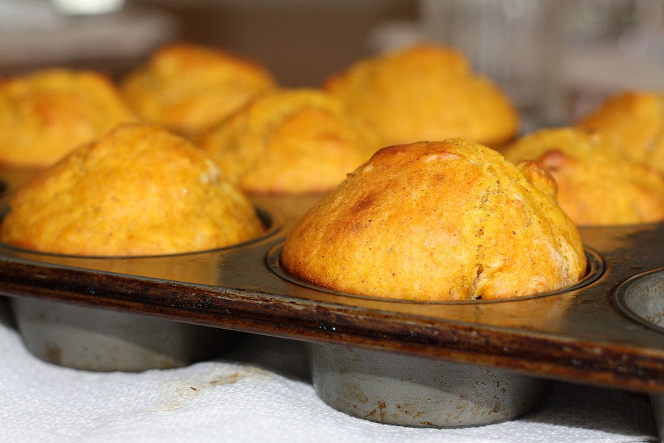 Sweet Potato Applesauce Muffins - no FLOUR!