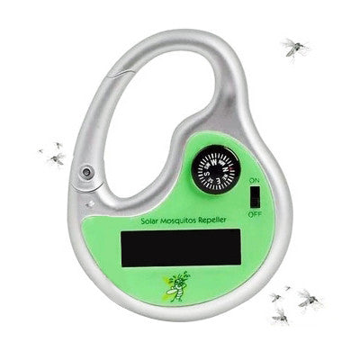 Portable Solar Ultrasonic Mosquito Pest Repeller with Compass Outdoors