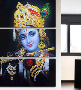 3 Piece Canvas Art Radha Krishna Painting Poster HD Printed Wall Art Home Decor Canvas Painting Picture