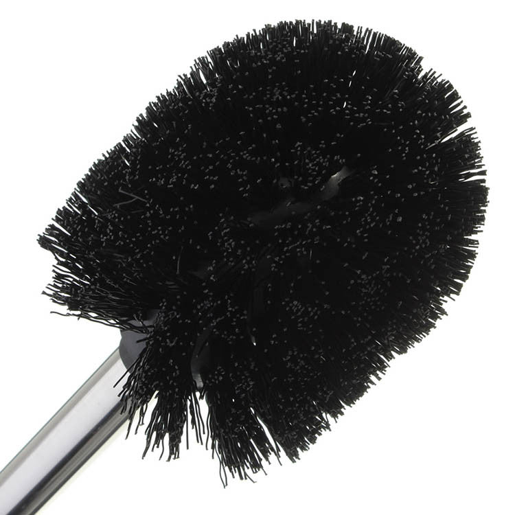 Replacement Black Stainless Steel Toilet Cleaning Brush Strong Decontamination