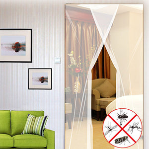 2pcs 31x83 Inch DIY Window Door Anti Mosquito Pest Curtain Net Mesh Sheer Curtain Protector