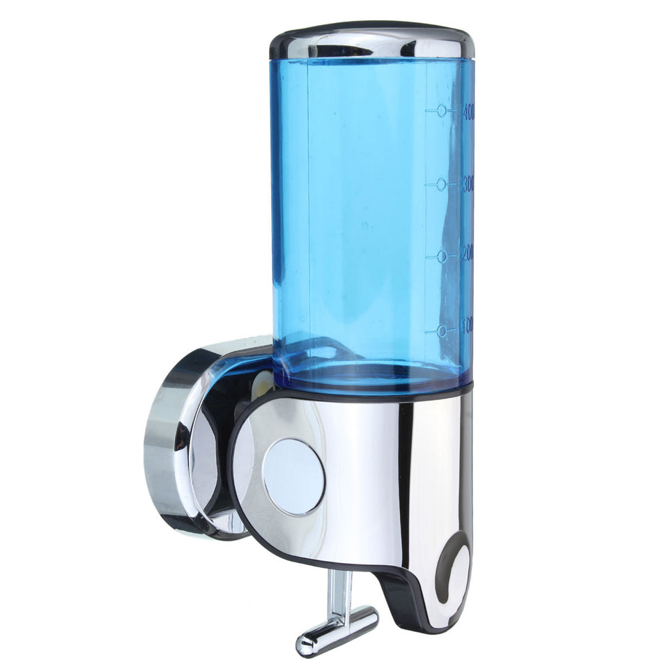 Wall Mounted Bathroom Manually Lotion Shampoo Bottle Dispenser Liquid Soap Squeezer