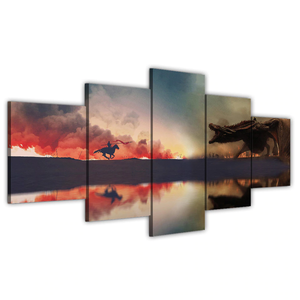 5 Piece Modular Canvas Art Dragon Ball Z Paintings on Canvas Wall Art