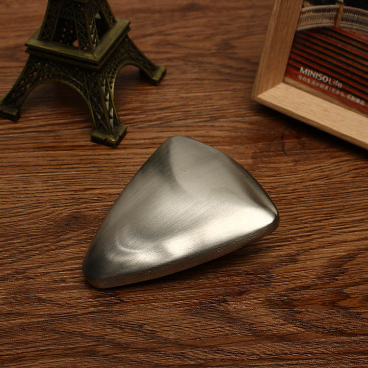 Bathroom Kitchen Triangle Shape Stainless Steel Magic Soap Remove Odor