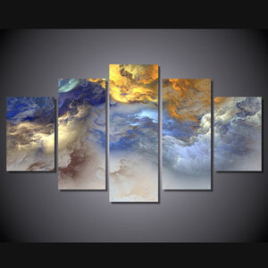 Set Stone Abstract Cloud No Frame Oil Painting Canvas Prints Wall Art Pictures For Living Room