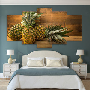 5 Pieces Canvas Wall Art Pineapples HD Painting Printed Poster