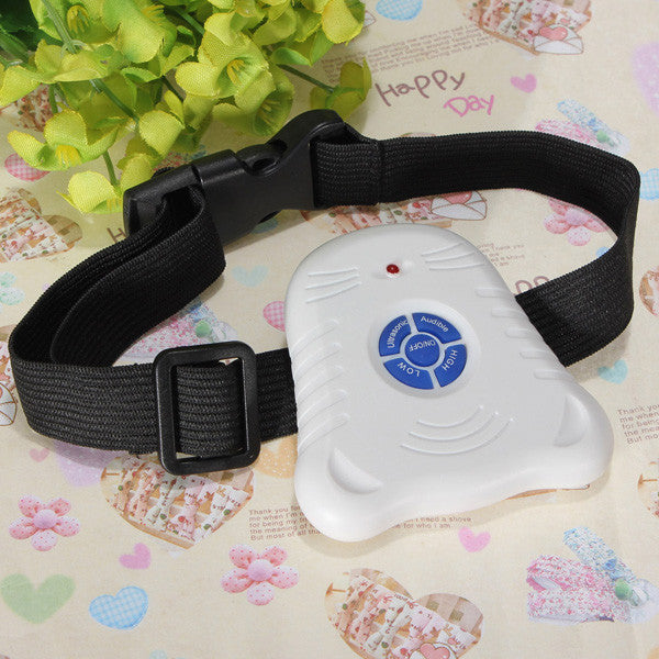 Safe Ultrasonic Dog Pet Stop Barking Anti Bark Training Control Collar