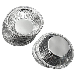 125Pcs  Disposable Round Silver Foil Baking Cookie Cups Cake Tart Mold