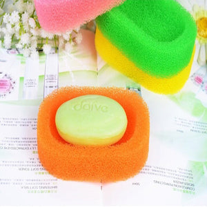Creative Mesh Sponge Of Soap Box Holders Dish Tray Bathroom
