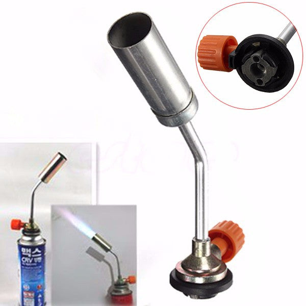 Gas Torch Flame Burner Gun Fire Lighter for Outdoor BBQ Camping Picnic