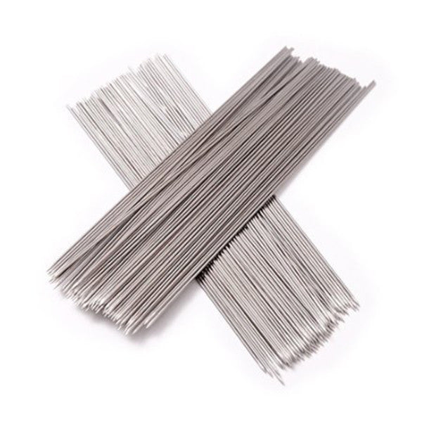 100Pcs Stainless Steel Party Camp BBQ Grill Barbecue Skewers Kebab Needle Stick