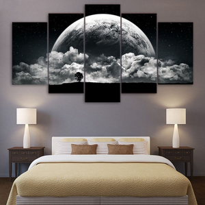 Pictures Modern Wall Art Posters 5 Panel Planet Landscape HD Cuadros Printed Painting