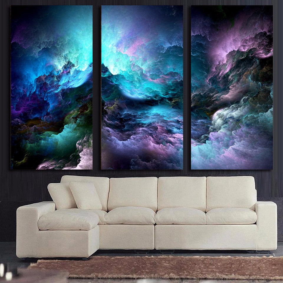 3 piece canvas art large hd printed piece canvas art abstract psychedelic nebula space painting panel paintings