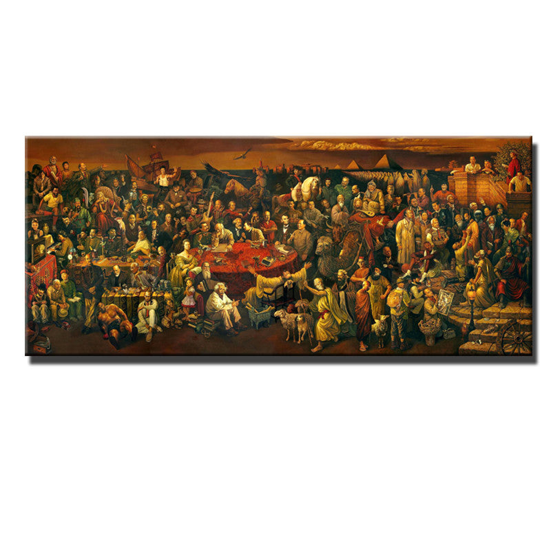 World Celebrity Pictures Classic Artwork Painting Discussing Divine Comedy Dante Art Silk Poster Home Decor