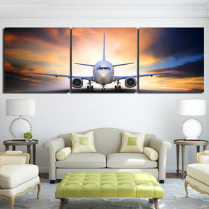 3 Piece Canvas Art Airplane Take Off Plane Painting Posters Prints Decor Wall Pictures Aircraft