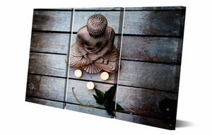HD Printed Mood Garden Buddhism Religion Painting Canvas Print Room Decor Print Poster Picture