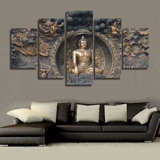 HD Printed Buddha Statue Painting Wall Art Decor Print Poster Picture Canvas