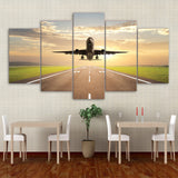 5 Piece Canvas Art Taking Off Plane HD Printed Aircraft Painting Wall Pictures Living Room