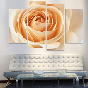 4PCS Orange Rose Flower Painting Canvas Art Flower Wall Picture For Living Room Prints On Canvas