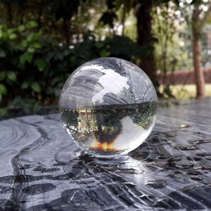 Rare Clear Asian Quartz ball Crystal glass Ball Sphere Fashion Table Decor Good Luck Ball