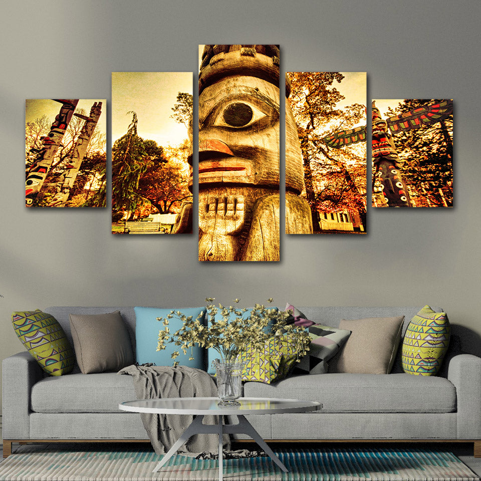 Modern Posters Prints Horror Haunted Garden Canvas Wall Art Painting Retro Wall Pictures Living Room