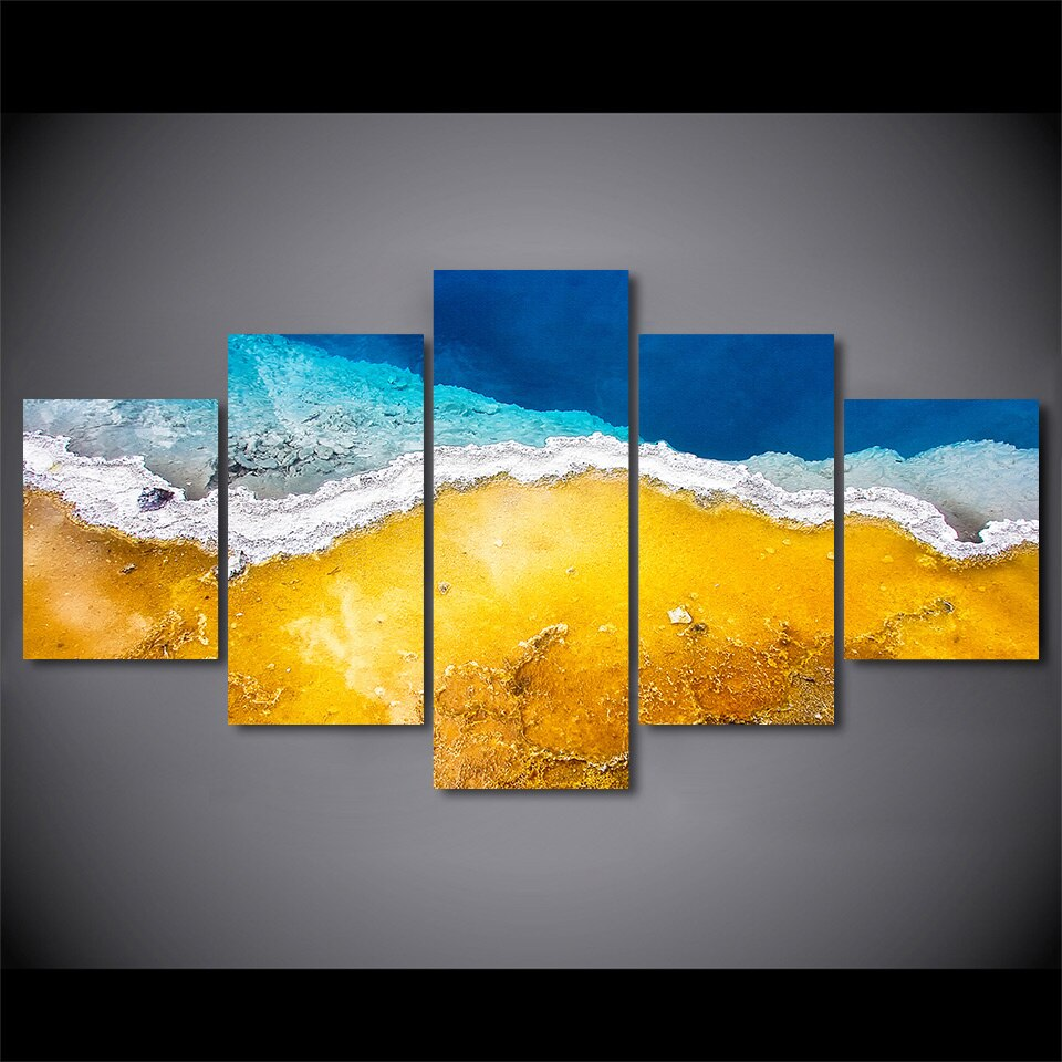 5 Piece Beautiful Beach Canvas Wall Art HD Posters Prints Wall Posters Living Room Home Decor