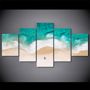 5 Piece Beach Canvas Wall Art HD Posters Prints Wall Posters Living Room Home Decor