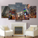 5 Piece Canvas Painting Tokyo Street  HD Posters Prints Home Decor Wall Decorations Room