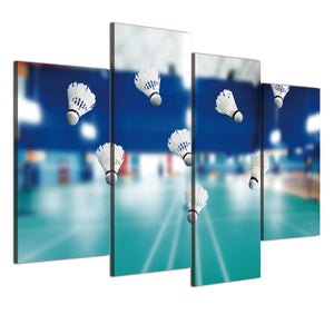 Canvas Painting 4 Pieces Art Badminton Court Poster And Prints Wall Living Room