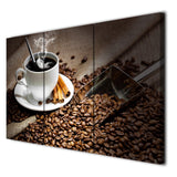 3 Panels Canvas Art Coffee Bean Hot Drink Cup Home Decor Wall Art Painting Canvas Prints Pictures Living Room Poster