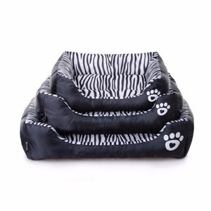 Waterproof Pet Bed Zebra Patterns Dog House Keep Clean Pets Bed Home