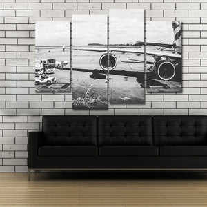 Airplane Engines Picture 4 Panel Canvas Painting Print on Canvas Wall Art Painting Home Decor