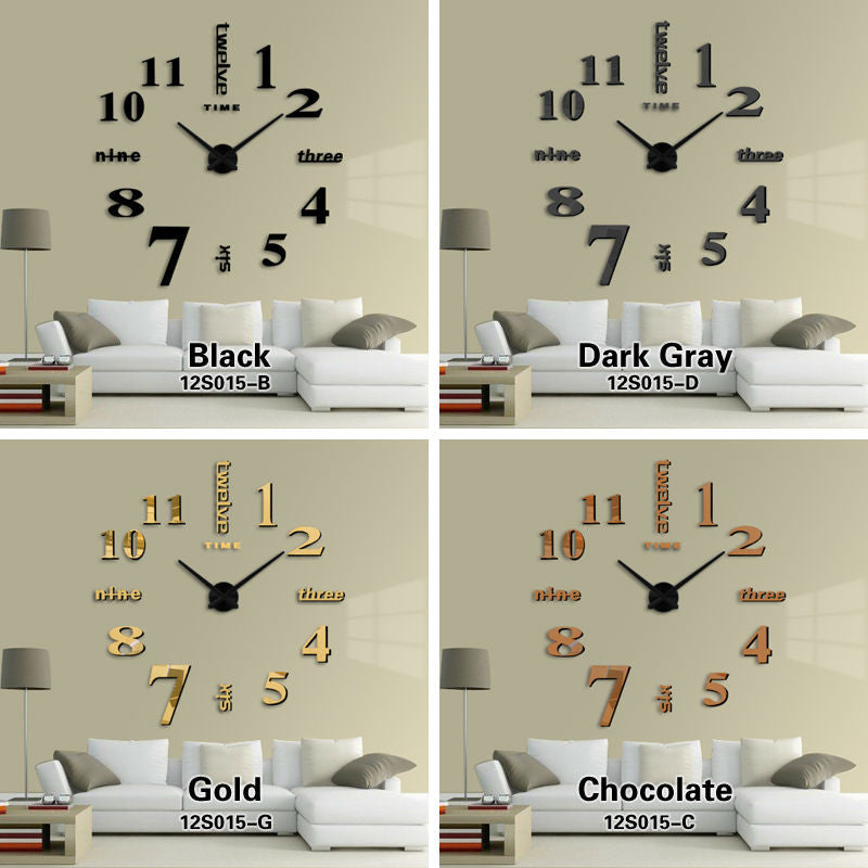 wall clock modern design 3d diy large decorative wall clocks watch