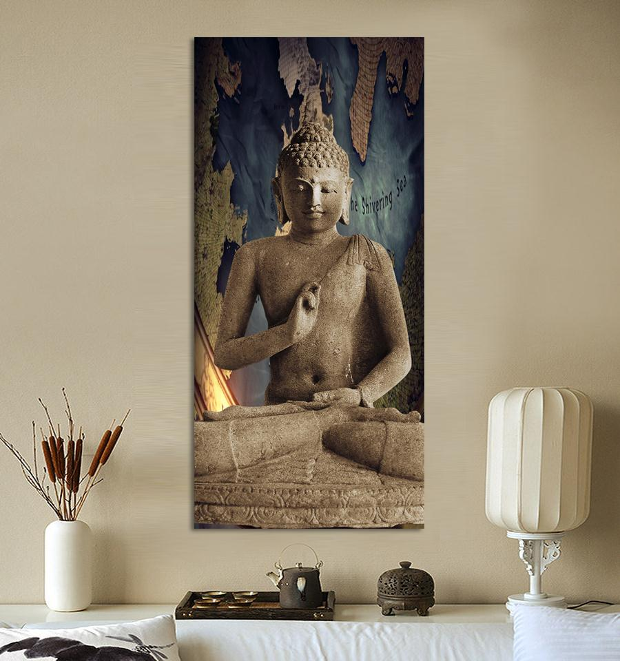 Buddha Art Canvas Wall Art Picture Landscape Canvas Painting Living Room Decorative