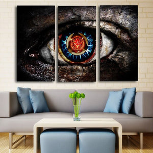 3 Panels Colorful Eyes Modern Pop Canvas Art Canvas Print Poster Living Room Home Painting