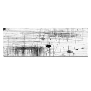 Modular Pictures 1 Panel Black And White Minimalist Streak Abstract Canvas Painting Wall Art Picture Decoration Pictures