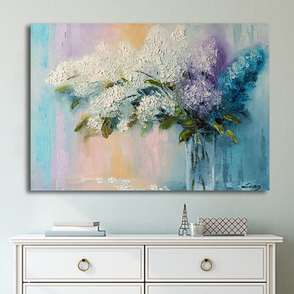 1 Panel Abstract Artistic Flower Oil Painting On Canvas Poster And Print Modern Wall Picture Living Room Printed Decor