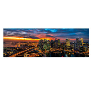 Canvas HD Posters Prints Painting City Night Landscape Wall Art Pictures For Living Room Wall Art Home Decor
